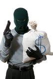 Thief with sack Royalty Free Stock Photos