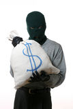 Thief with sack Stock Image