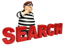 Thief with Search sign Royalty Free Stock Photos