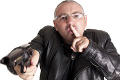 Thief silence Stock Images