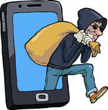 Thief of smartphone Royalty Free Stock Images
