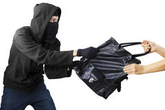 A thief stealing handbag Stock Images