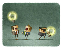 Thief stealing idea from businessman royalty free illustration