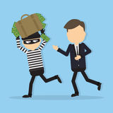 Thief stealing money. Stock Images