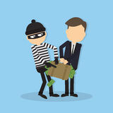Thief stealing money. Royalty Free Stock Photography