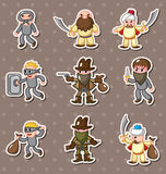 Thief stickers Stock Photo
