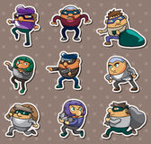 Thief stickers Royalty Free Stock Image