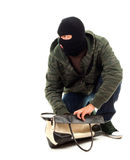 Thief  with stolen bag Stock Photography