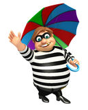 Thief with Umbrella Stock Image