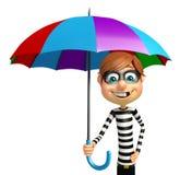 Thief with Umbrella Stock Photography