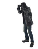 Thief using binoculars Stock Photography