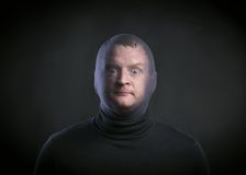 Thief wearing baclava Stock Photo