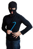Thief wearing a black mask Royalty Free Stock Photo