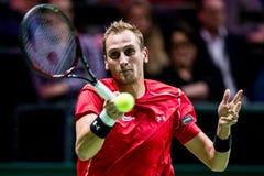 Thiemo de Bakker ATP Värld turnerar inomhus tennis Arkivbild