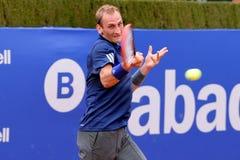 Thiemo de Bakker (jugador de tenis de Países Bajos) juega en el ATP Barcelona Imagen de archivo