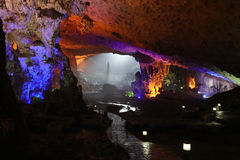 Thien Cung Cave, Halong Bay, Vietnam Stock Photography