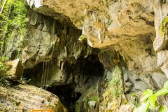 Thien Duong Cave (caverna do paraíso) no parque nacional do golpe de Phong Nha-KE, Vietname fotos de stock royalty free