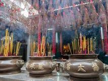 Thien Hau świątynia Ho Chi Minh, Wietnam (,) Obrazy Stock
