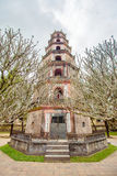 Thien Mu塔(天堂神仙的夫人Pagoda)在颜色城市,越南 库存图片