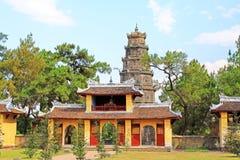 Thien Mu pagod, Hue Vietnam Arkivbilder