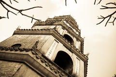 Thien Mu pagod Hue Vietnam Arkivfoto