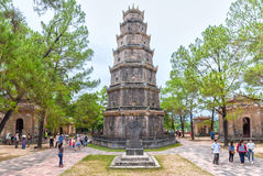 Thien Mu Pagoda, Hue on a summer day stock photography