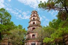 Thien Mu Pagoda in Hue, Vietnam.  stock photo