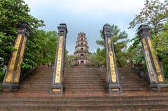 Thien Mu Pagoda in Hue, Vietnam.  stock photography