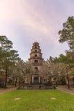 Thien Mu Pagoda, Hue, Vietnam. Thien Mu Pagoda (Heaven Fairy Lady Pagoda) was built in 1601, this is the tallest pagoda in Vietnam. Photo taken on: Dec 12, 2015 royalty free stock photos