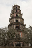 Thien Mu Pagoda. Hue, Vietnam. Thien Mu Pagoda, seven floors tower. Hue, Vietnam royalty free stock photo