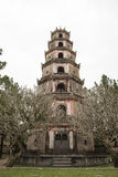 Thien Mu Pagoda. Hue, Vietnam. Thien Mu Pagoda, seven floors tower. Hue, Vietnam stock photo