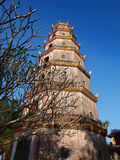 Thien Mu Pagoda, Hue, Vietnam. UNESCO World Heritage Site. Thien Mu Pagoda (Heaven Fairy Lady Pagoda) was built in 1601, this is the tallest pagoda in Vietnam royalty free stock images