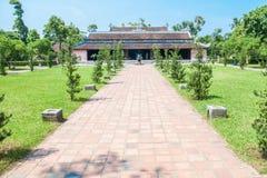 Thien Mu Pagoda i ton, Vietnam Arkivfoton