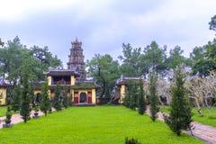 Thien Mu Pagoda in Hue, Vietnam. The Thien Mu Pagoda near Hue in central Vietnam stock photography
