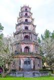 Thien Mu Pagoda in Hue, Vietnam. The Thien Mu Pagoda near Hue in central Vietnam royalty free stock photography