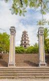 Thien Mu pagoda, odcień, Wietnam. Unesco światowego dziedzictwa miejsce. Zdjęcia Royalty Free