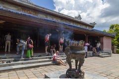 Thien Mu pagoda, odcienia miasto, Wietnam Fotografia Royalty Free