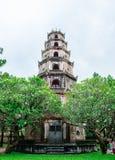 Thien Mu pagoda with Perfume River (Song Huong) in Hue, Vietnam Royalty Free Stock Photos