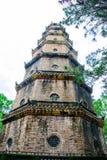 Thien Mu pagoda with Perfume River (Song Huong) in Hue, Vietnam Stock Photo