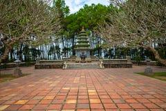 Thien Mu Temple, Hue, Vietnam.  stock photo