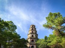 Thien mu in vietnam stock photography