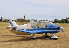 Thiene Vicenza - Italien 26th Juli, 2015: ljust flygplan Royaltyfri Fotografi