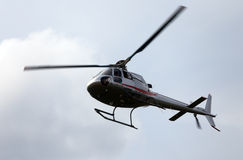 Thiene, Vicenza - Italy. 26th July, 2015:small helicopter for si Stock Photography