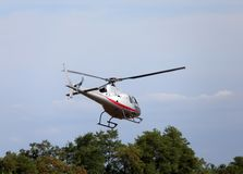 Thiene, Vicenza - Italy. 26th July, 2015:small helicopter for si Stock Photo