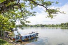 Thienmu Pagode, Tintstad, Vietnam Stock Afbeelding