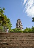 Thienmu Pagode, Tintstad, Vietnam Stock Foto's