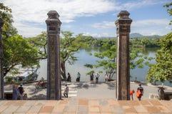 Thienmu Pagode, Tintstad, Vietnam Royalty-vrije Stock Afbeeldingen
