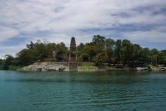 Thienmu pagode van Parfumrivier Tint, Centraal Vietnam, Azië Stock Fotografie