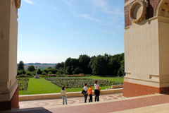 The Thiepval Memorial to the Missing of the Somme. Stock Images