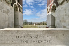 Thiepval Ridge War Cemetary Royalty Free Stock Image